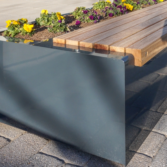 Solid Green Benches