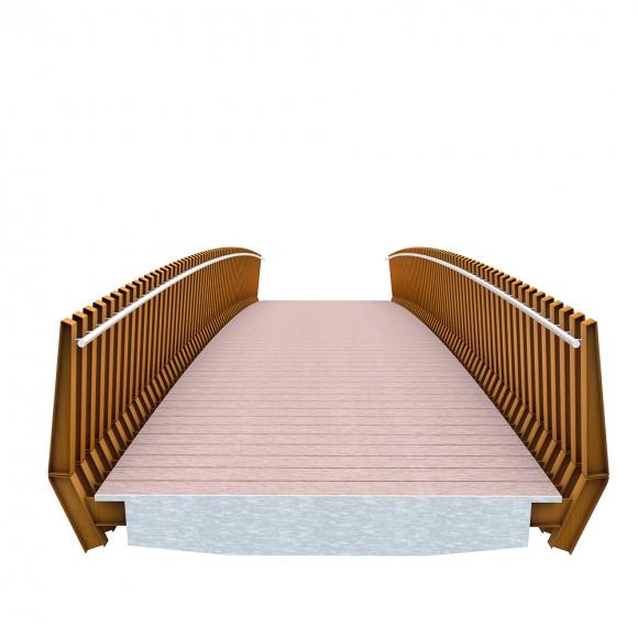 Millipede Brücken CorTen