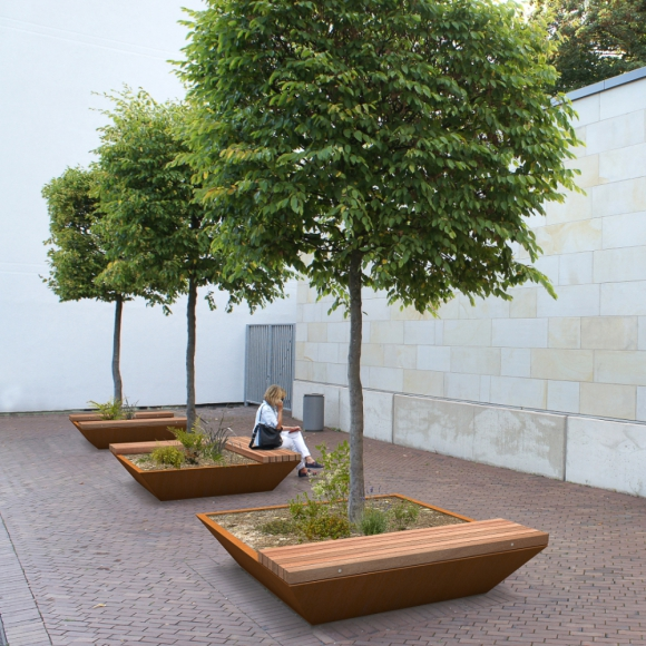 Solid Edge Green Benches