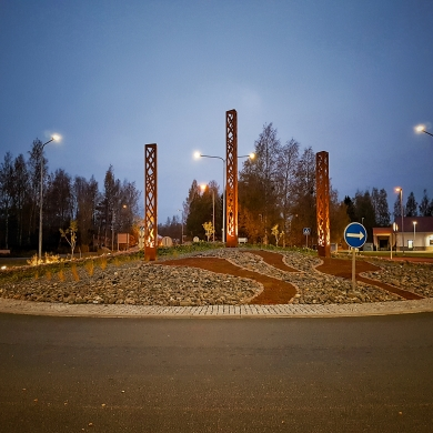 Streetlife Open Pillar in Pori, Finland