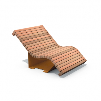 Solid Serif Chaise Longue