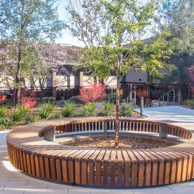 Solid Skirt Circular Benches