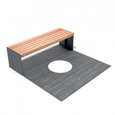 Solid Grille Benches