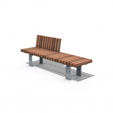 Solid Crosswise Benches