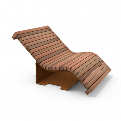 Chaise Longue Solid Serif