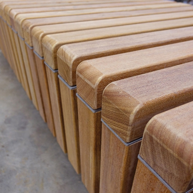 Solid Skirt Block Benches