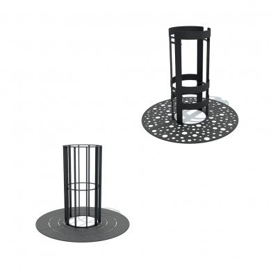 Tree Grilles Black & Grey