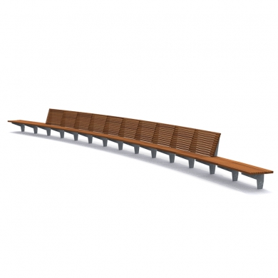 Olympic Wave Benches