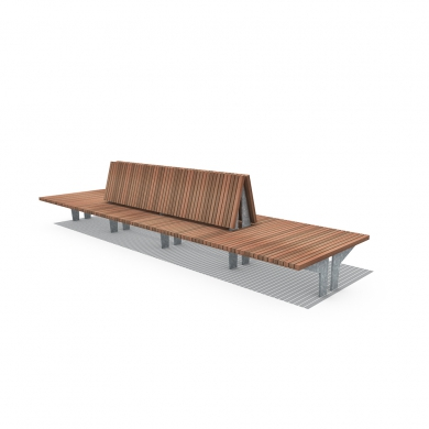 Bancs Crosswise Olympic Wave